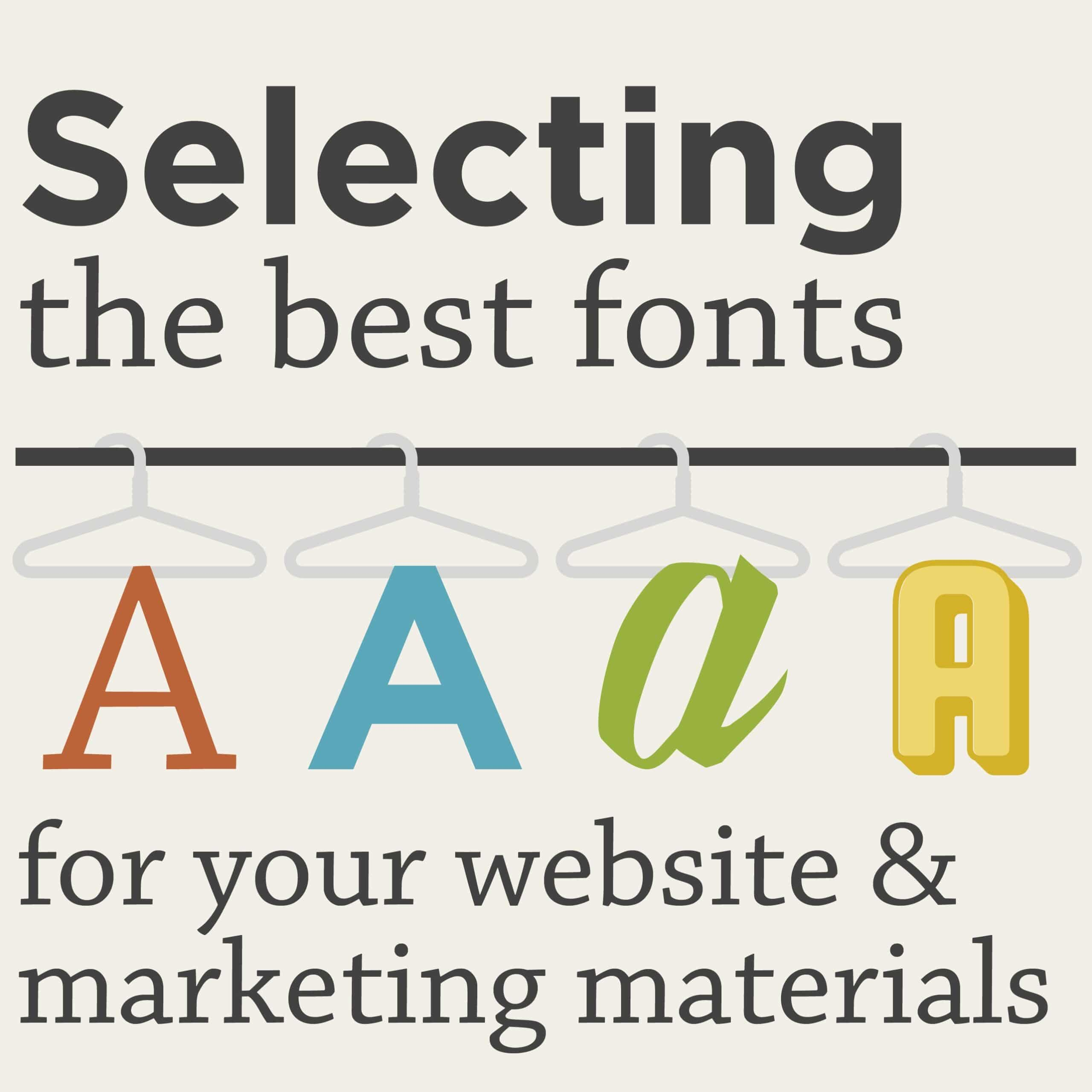 Best fonts for infographics