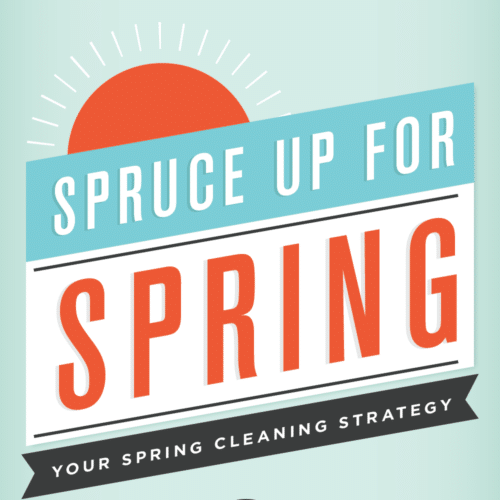 Thumbnail of spring cleaning infographic.