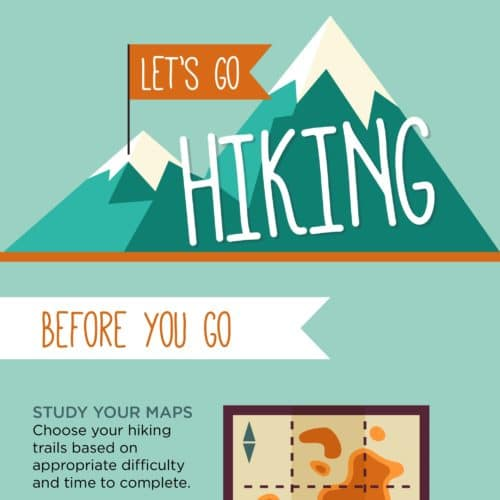 Thumbnail of hiking tips infographic.