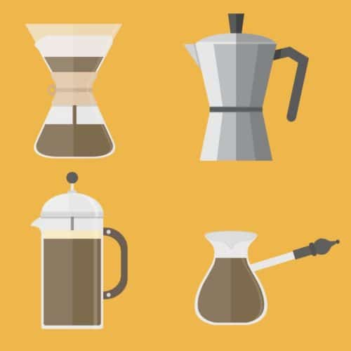 Thumbnail of infographic about different coffee brewing methods.