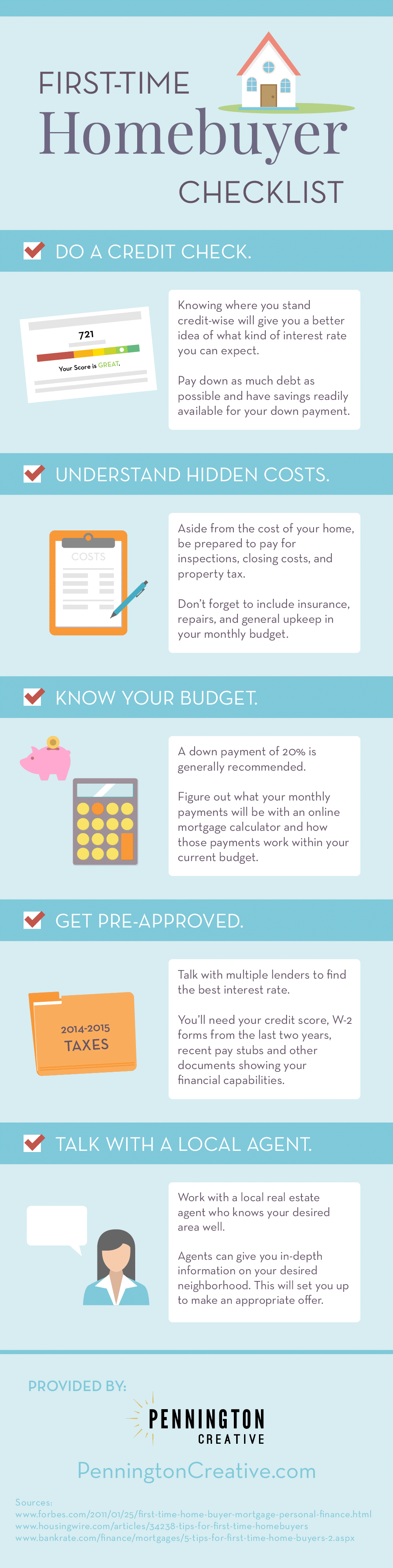 First-Time Homebuyer Checklist Infographic
