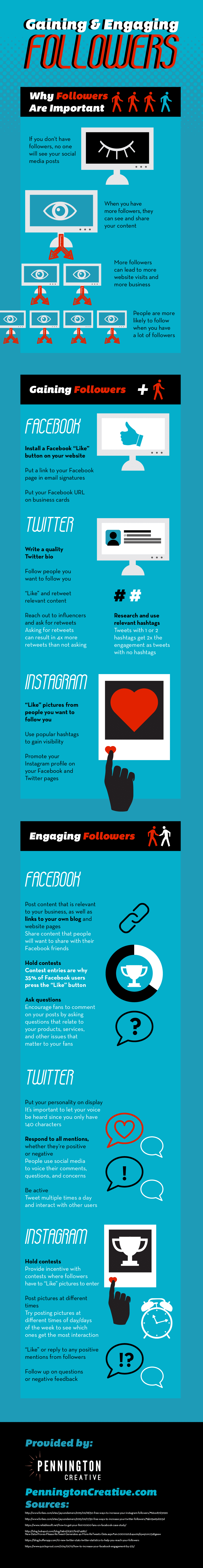 Gaining and Engaging Followers Infographic