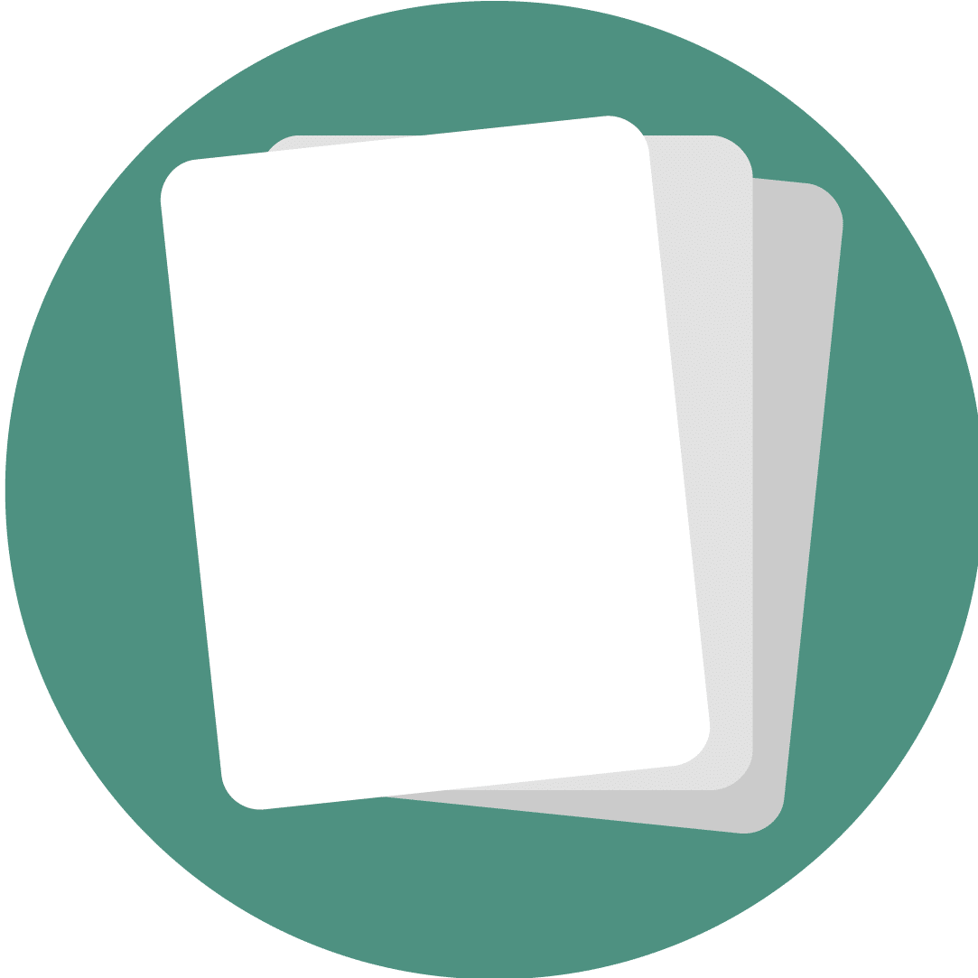 Icon showing several sheets of paper.