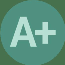 A+ icon.
