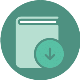 Icon showing an eBook download.