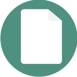 Icon showing a piece of paper.