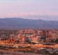Photo of Tucson with Mt. Lemmon in the background.