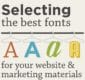 Thumbnail preview of infographic about font selection.