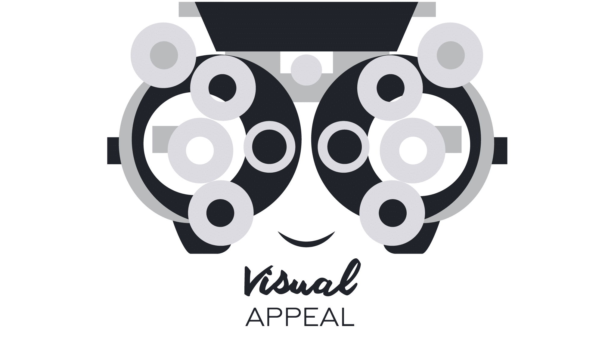 Illustration about the importance of visual appeal in logos.
