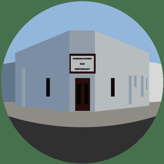 Illustration of Tucson landmark Cushing Street Bar.