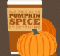 Thumbnail preview of pumpkin spice infographic, with a coffee cup.