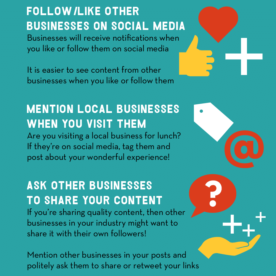 Thumbnail preview of infographic about connecting with other businesses on social media.