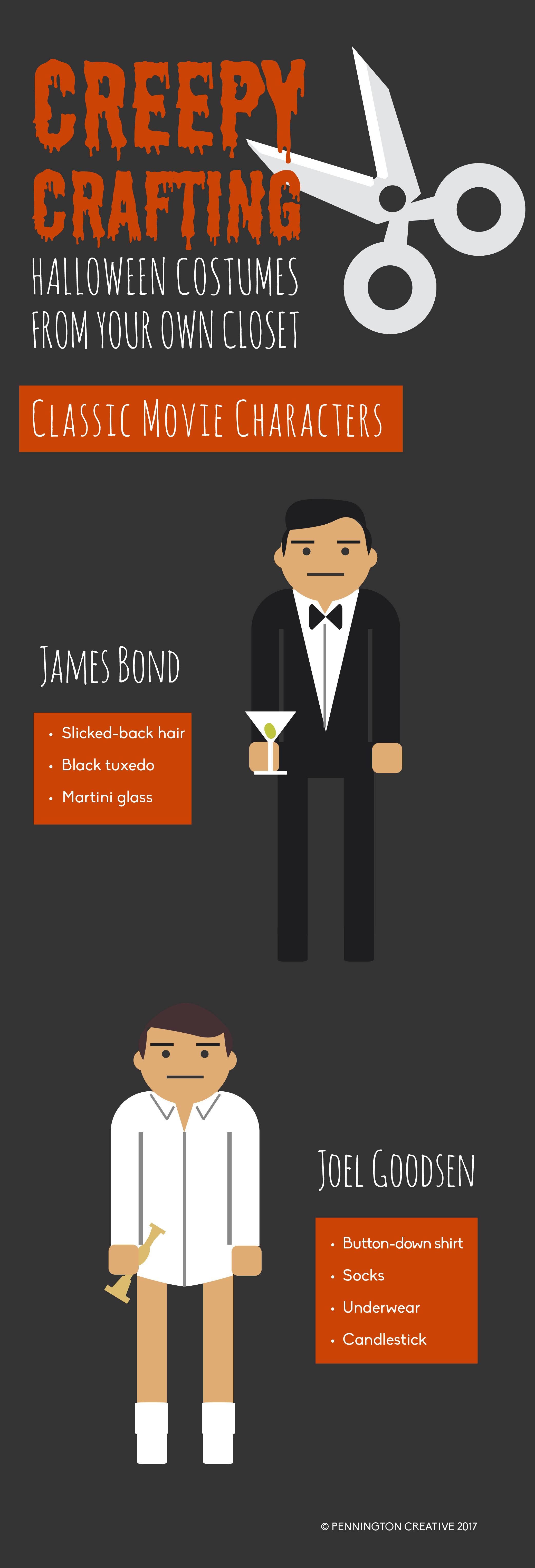 James Bond and Risky Business Halloween Costumes