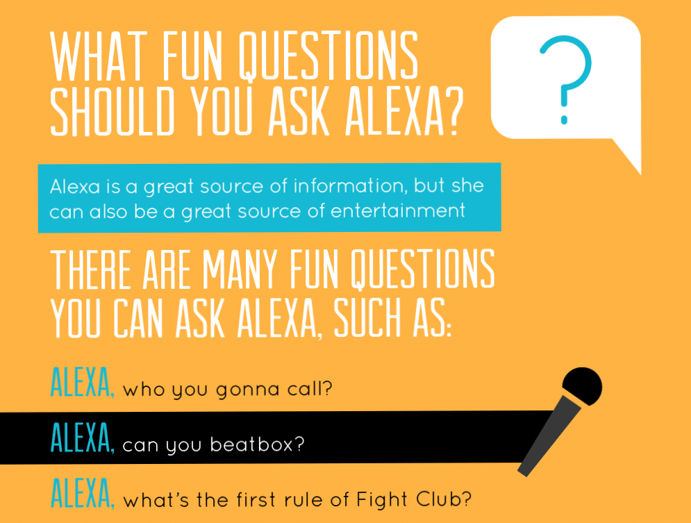Thumbnail preview of infographic about questions to ask Alexa.