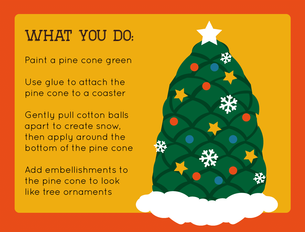 Thumbnail preview of holiday crafts infographic.