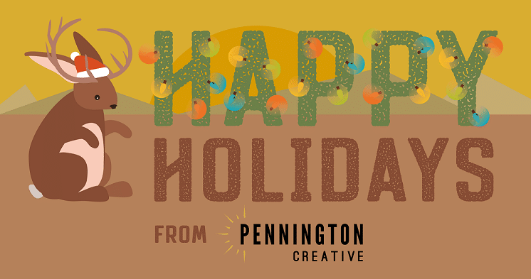 Holiday card from Pennington Creative.