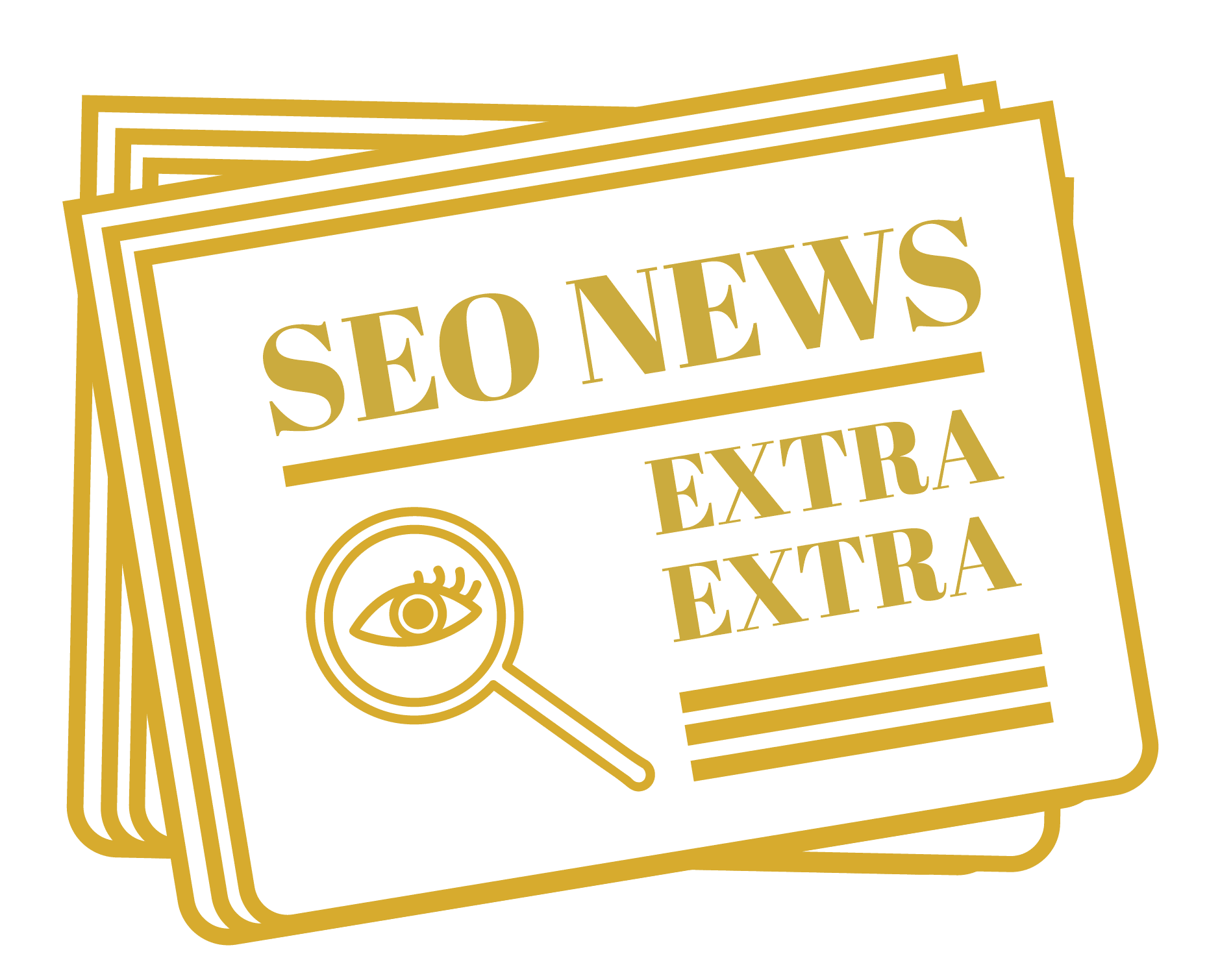 "Illustration of a newspaper with the headline ""SEO News."""