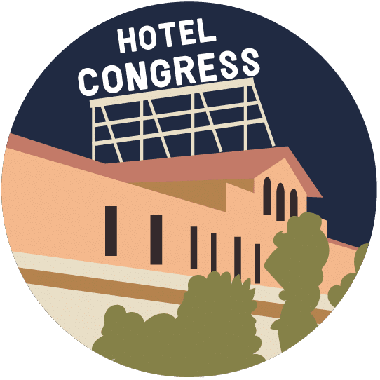 Illustration of the Hotel Congress in Tucson.
