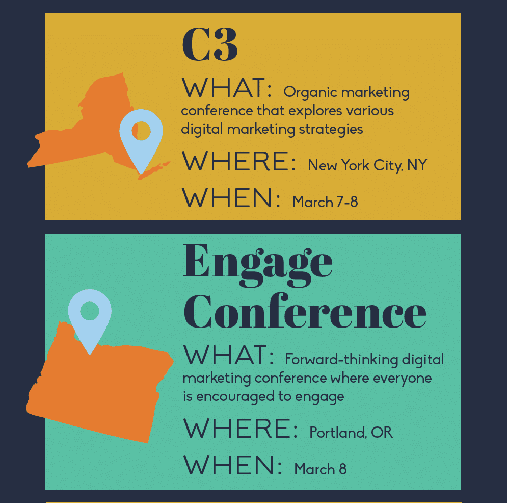 Thumbnail preview of content marketing event infographic.