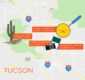 Map of Tucson showing the best museums.