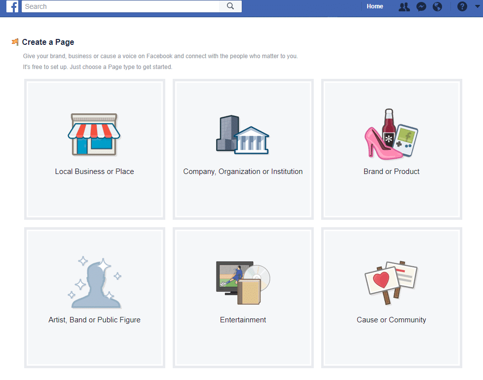Screenshot of Facebook ad creation.