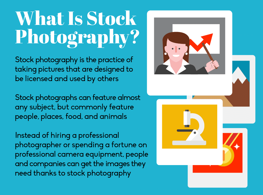Thumbnail preview of infographic about the history of stock photography.