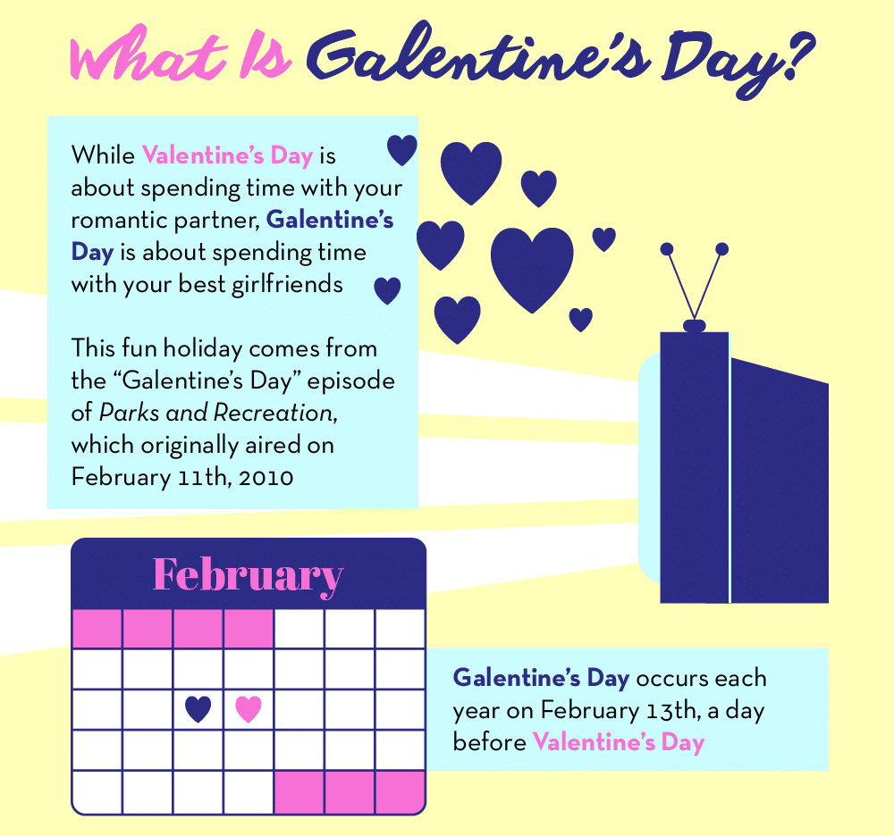 Thumbnail preview of Galentine's Day infographic.