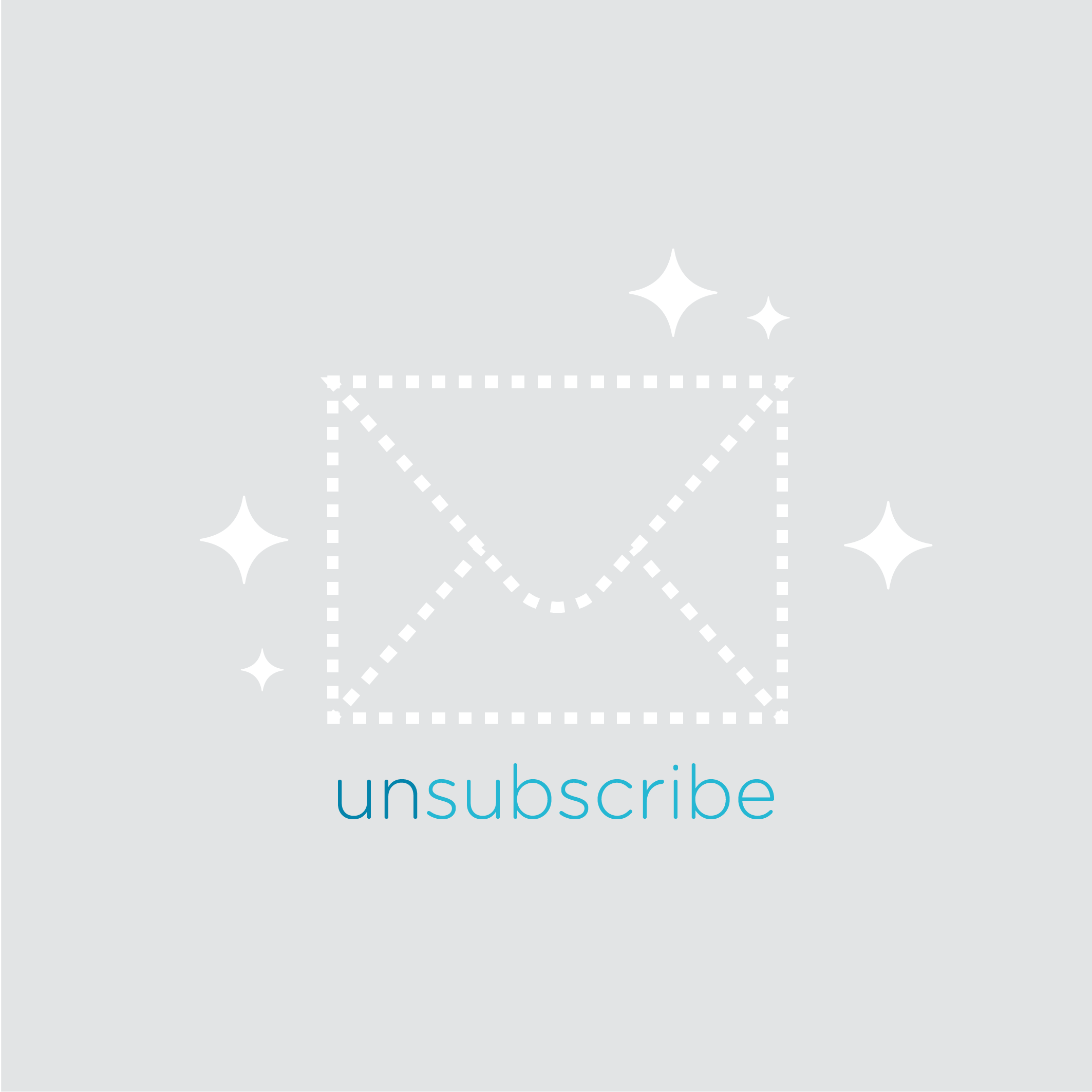 Illustration of an unsubscribe button.