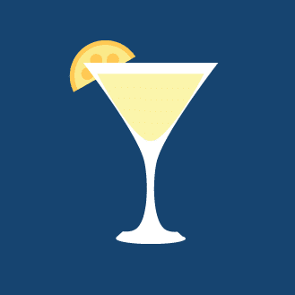 Ilustration of a lemon drop cocktail.