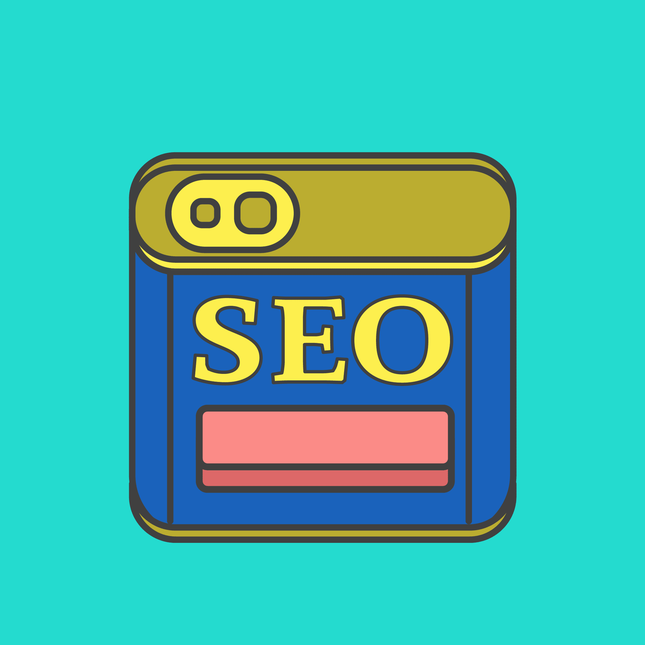 Illustration of a SPAM can that says SEO.