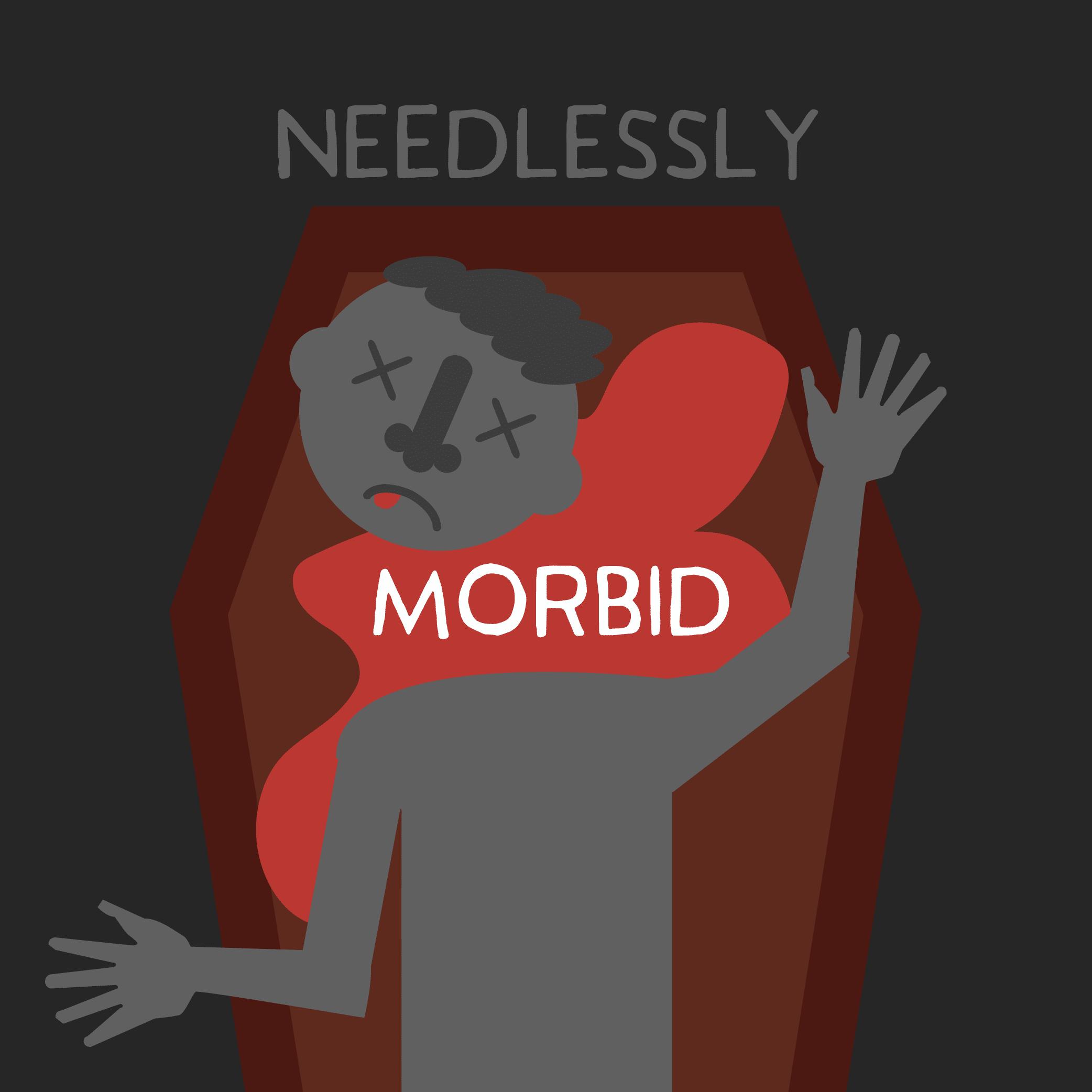 Illustration of a morbid crime scene.