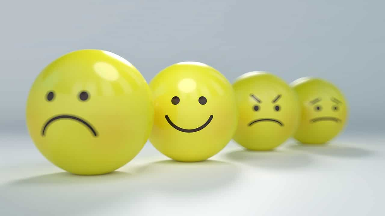 Photo of smiley faces with different expressions.